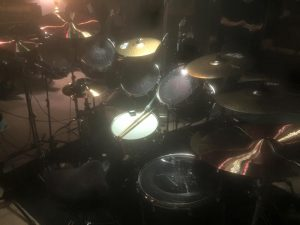 Dave Lombardo Drum Kit From Behind