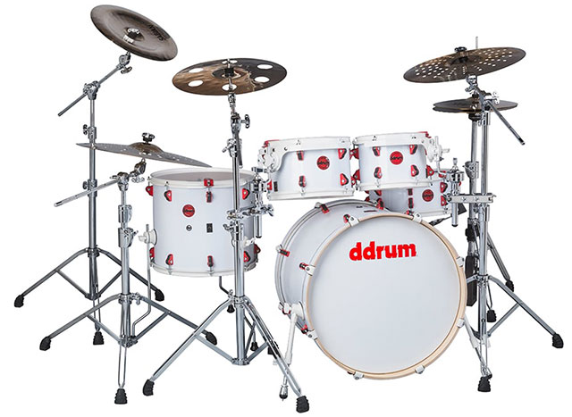 ddrum Hybrid 5 Player White Wrap Finish