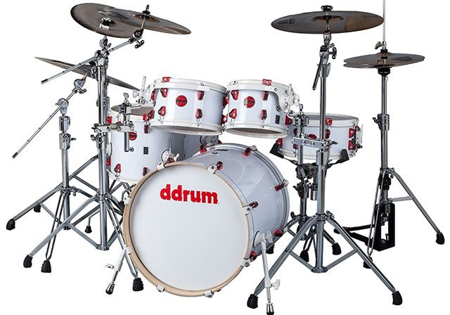 ddrum Hybrid 6 Player White Wrap Finish