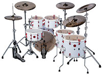 ddrum Hybrid 6 Player White Wrap Finish Small