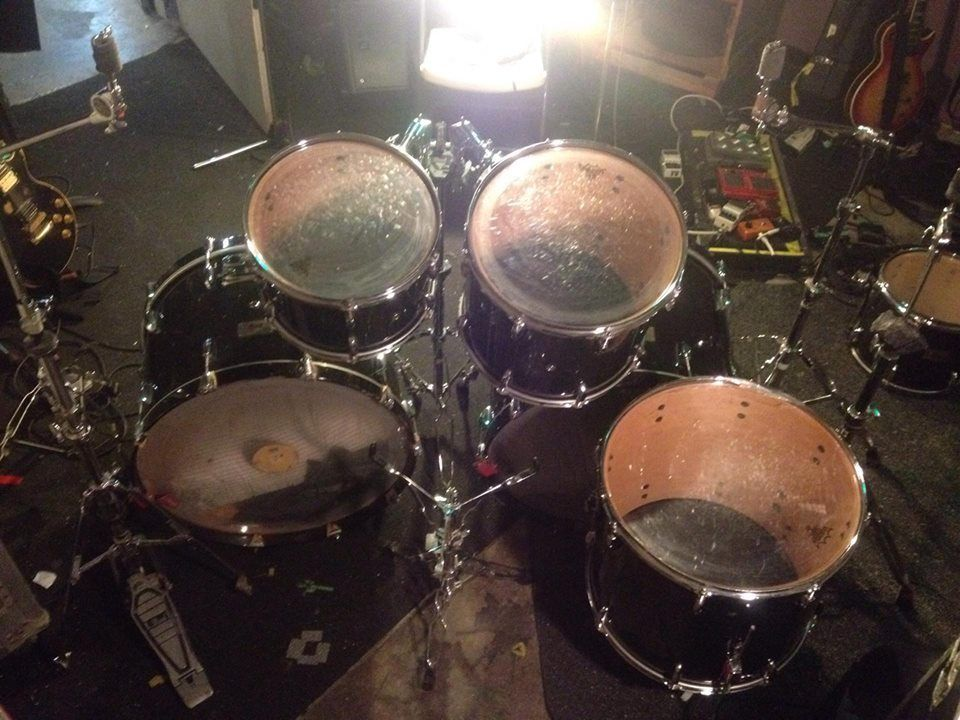 GENE HOGLAN DRUMKIT FROM BEHIND