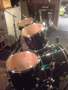 GENE HOGLAND (DEATH) DRUMKIT FROM SIDE